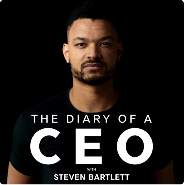 Business podcast, The Diary of a CEO cover image.